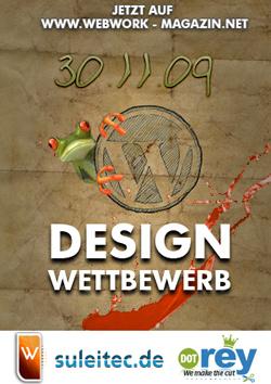 Wordpress design Wettbewerb, PSD